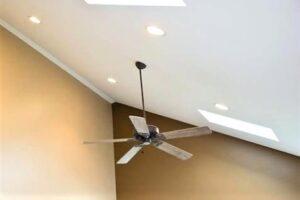 angled ceiling lights led recessed lighting for sloped surprise popular fan light kit decorating ideas can semi flush